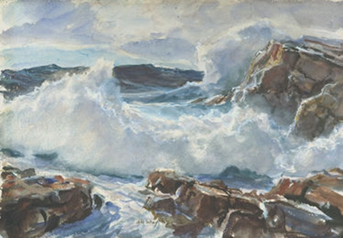 Crashing Surf, Montery California John Whorf