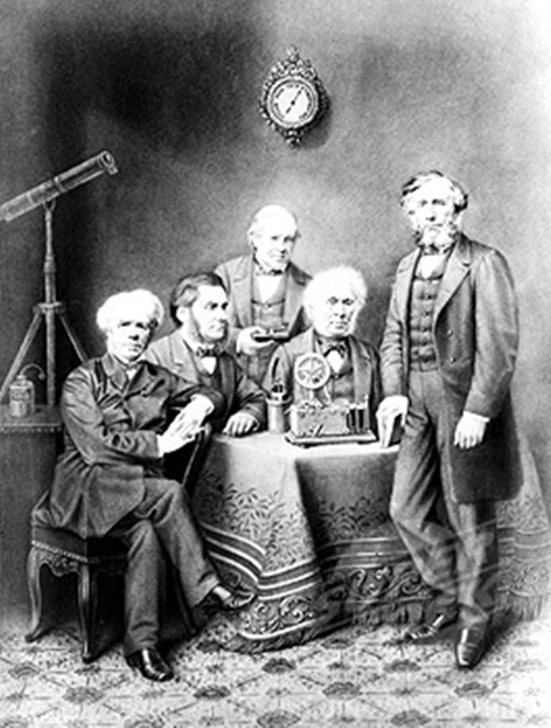 Michael Faraday and other leading scientists of the 19th century:.