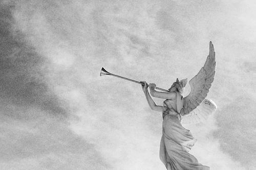 Angel Trumpet Statue